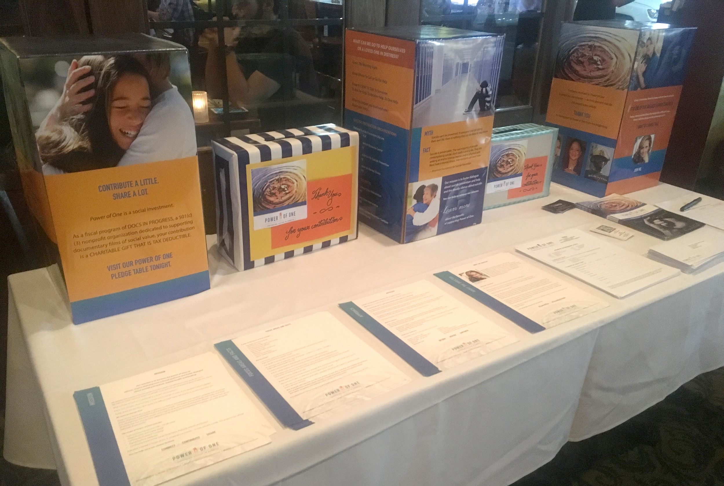 Story Stations and marketing materials that we created together on display at the event in Arlington, Virginia.