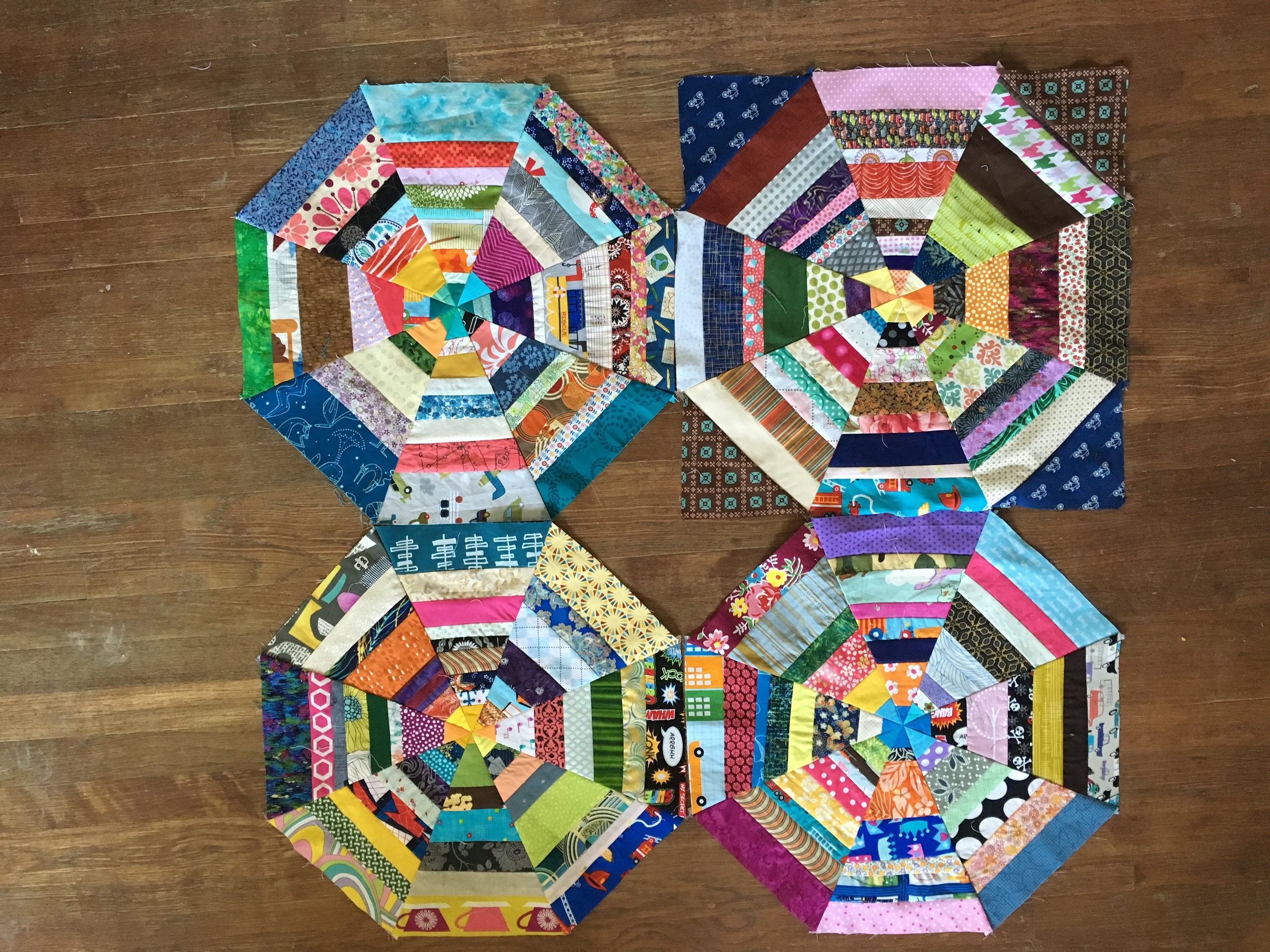 4 blocks fo far. I think I need 9 for this quilt though.