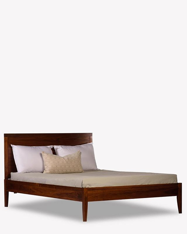Who doesn't like a nice low profile walnut bed?? 😏  #furniture #modern #interiordesign #interior #toronto #dresser #bedroom #bedroomdecor #highboy #walnut #maple #livingroom #teak #modern #guelph #midcenturymodern #midcenturymodernfurniture #retro #minimalism #minimalist #design #ontario #hamilton #vintage