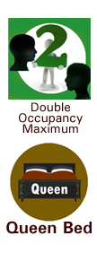 symbols for queen bed and double occupancy max
