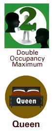 queen bed symbol Double Occupancy