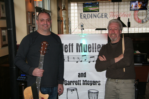 extraordinary local music duo Jeff Meuller and garrett meyers private welcome show