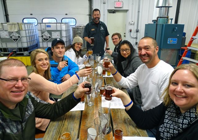 laugh, taste, and drink with fellow guests during our private walking tour of breweries