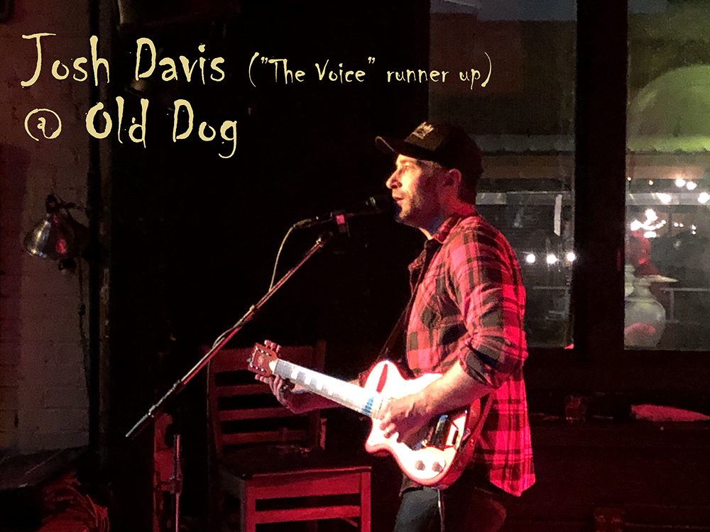 """The Voice"" runner up Josh Davis at a great local pub, Old Dog Tavern, Feb 2019"