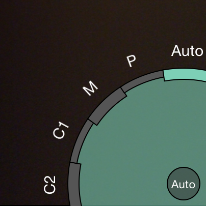 Camera Modes  - these options offer various degrees of control over camera settings.