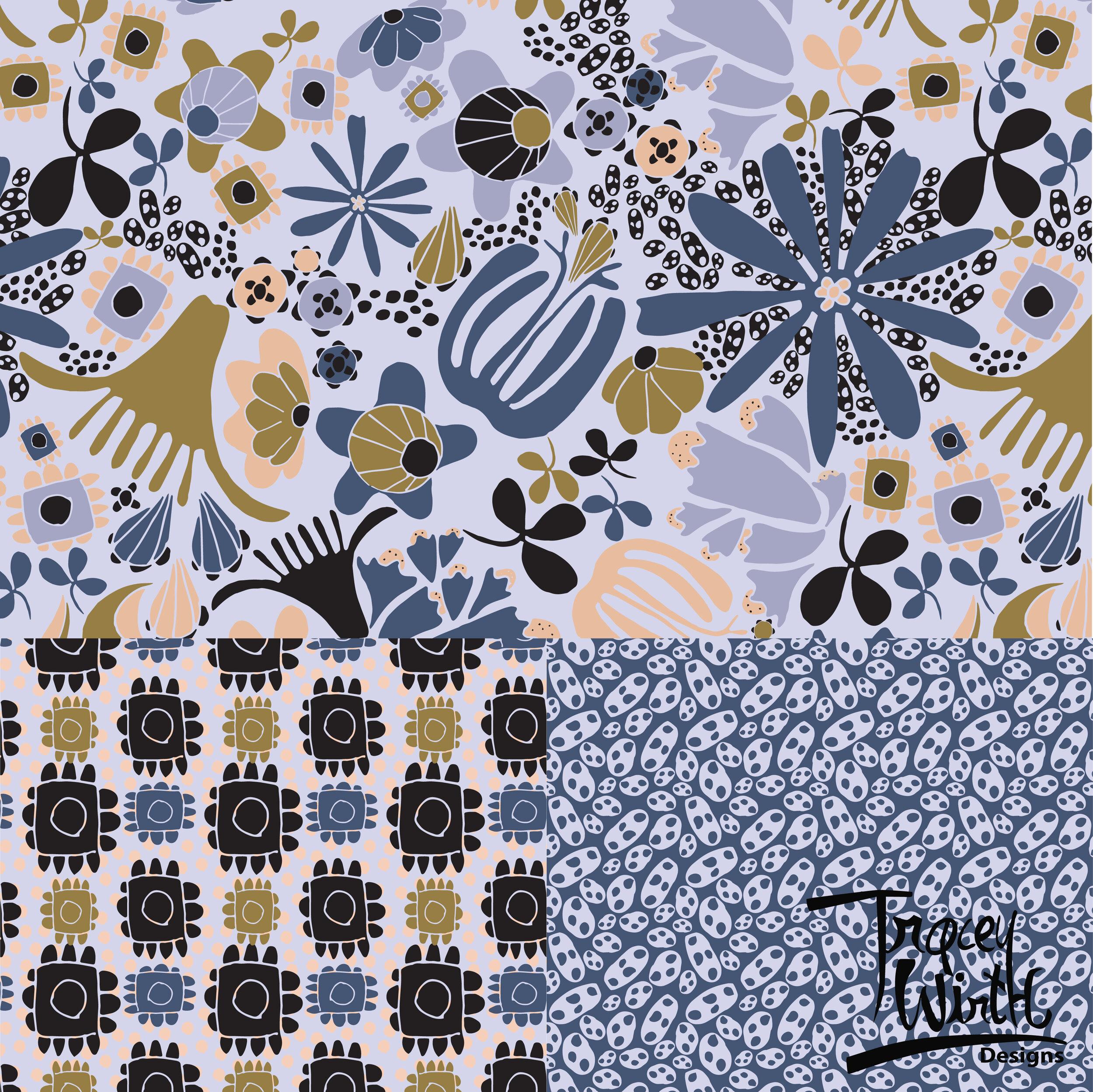 Floral Flurries in Periwinkle -