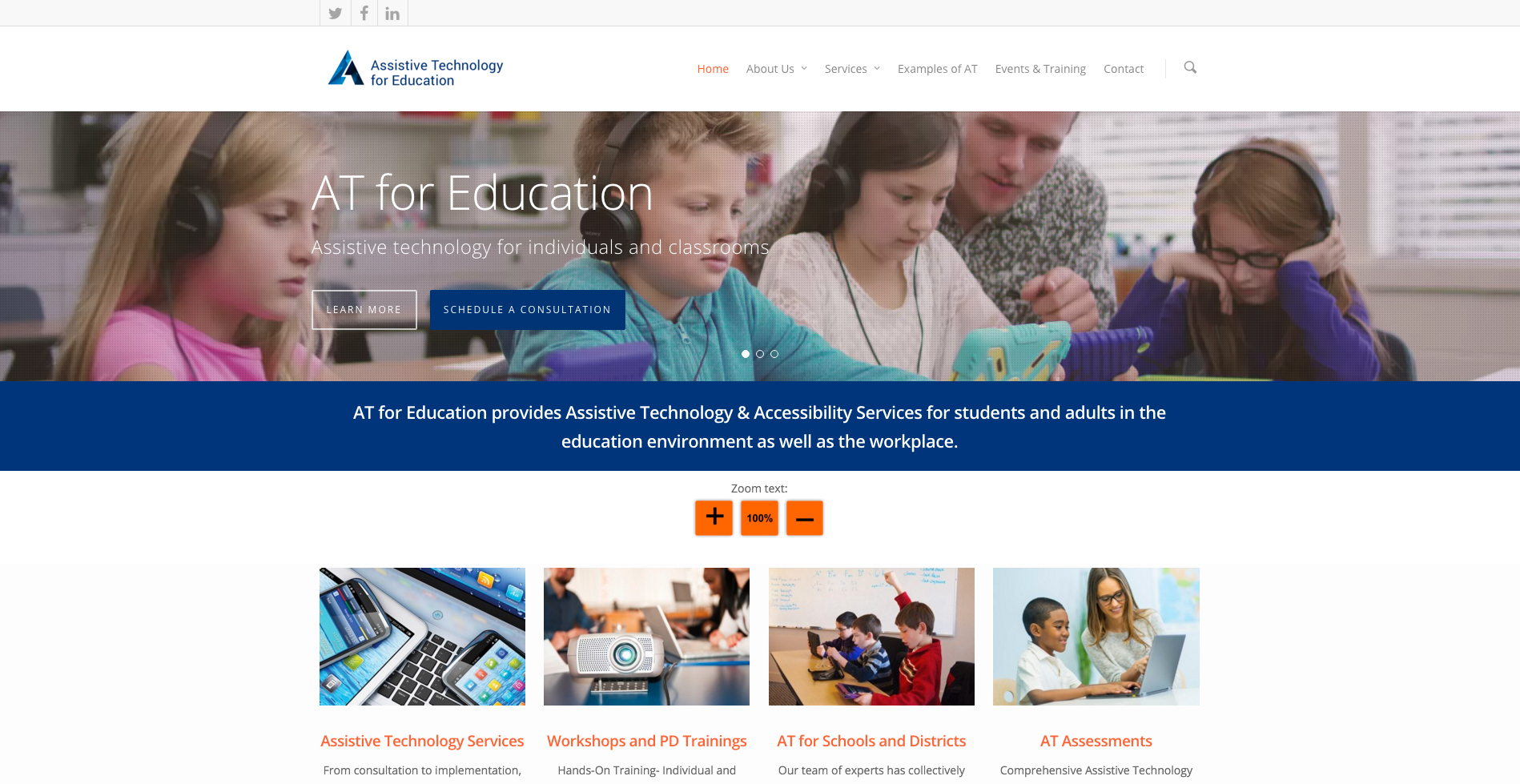 Assistive Technology for Education
