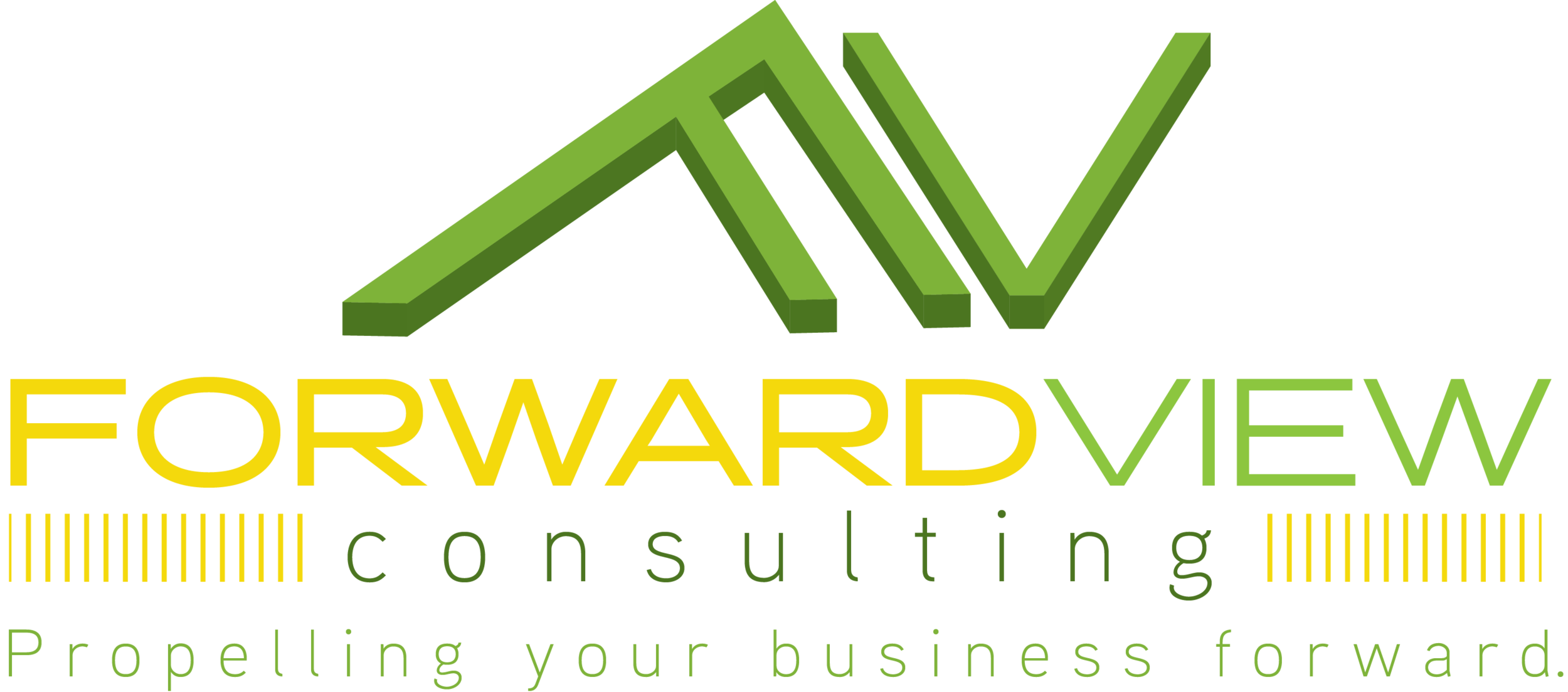 Note that Forward View has integrated our slogan in the logo.