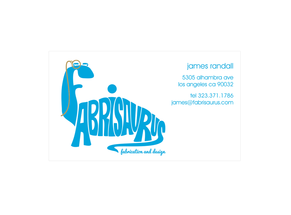 Fabrisaurus Business Card