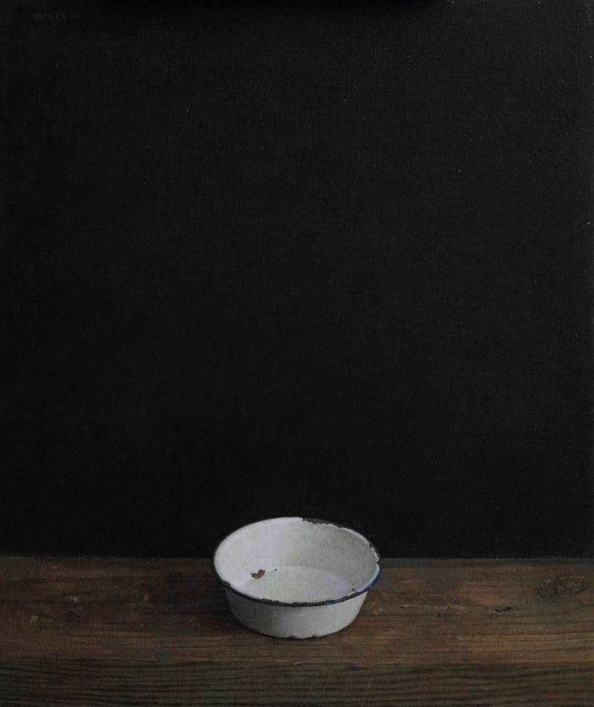 """White Cup, 26""""x22"""" Oil on linen panel"""