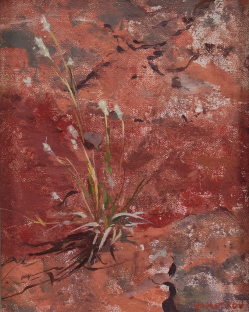 """""""Grass on the Red Rocks"""", 8""""x10"""" oil on linen board"""