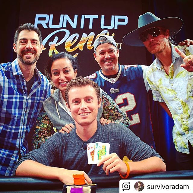 Adam Klein, @survivoradam and #survivor winner, just keeps on winning! He won a poker charity event @runituptv in #reno and is donating his winnings to support our efforts! So cool and quite special. He even won with two Q's :) Special thanks to Adam!! #forever #beatcancer #survivorcbs #cancersucks #livelikesusie #cancer #charity #poker