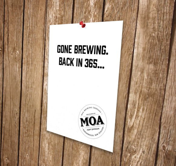 Gone Brewing Sign