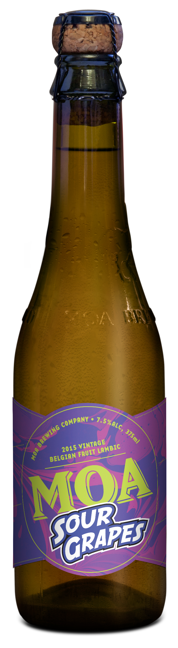 Moa brewing company beer sour grapes marlborugh craft beer