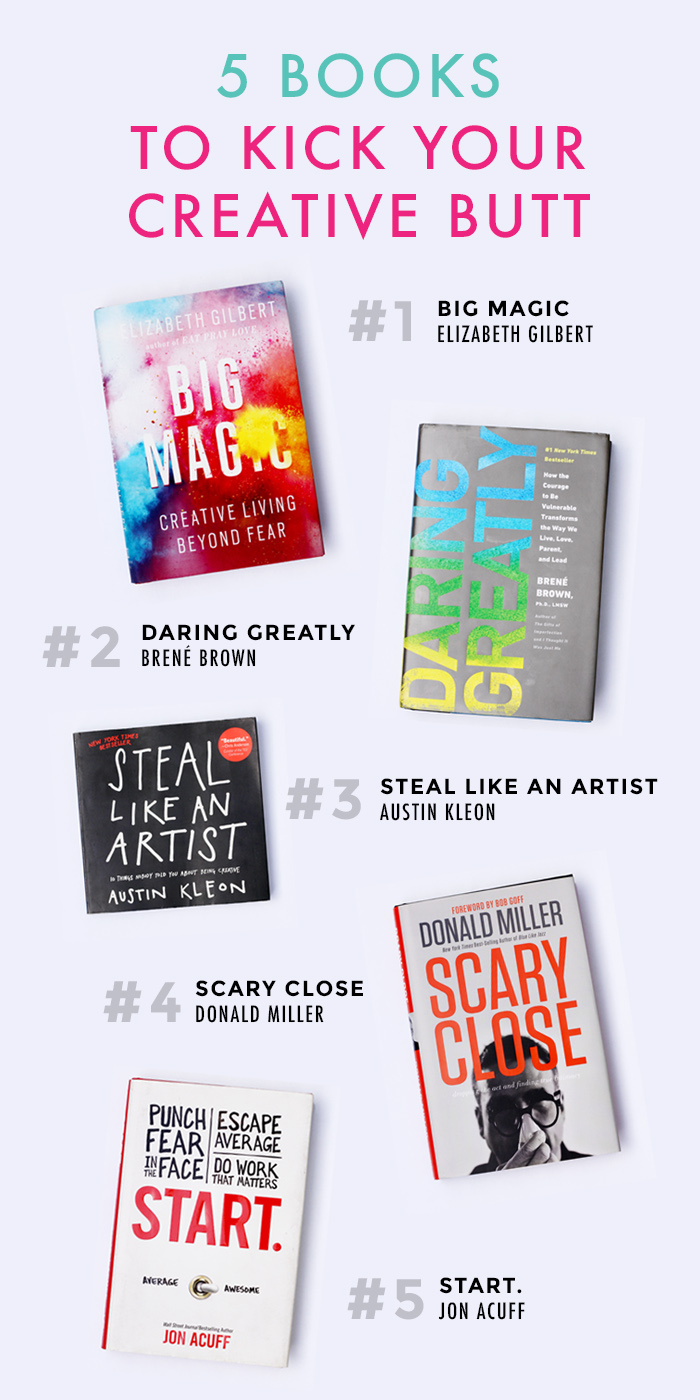 5 Books To Kick Your Creative Butt
