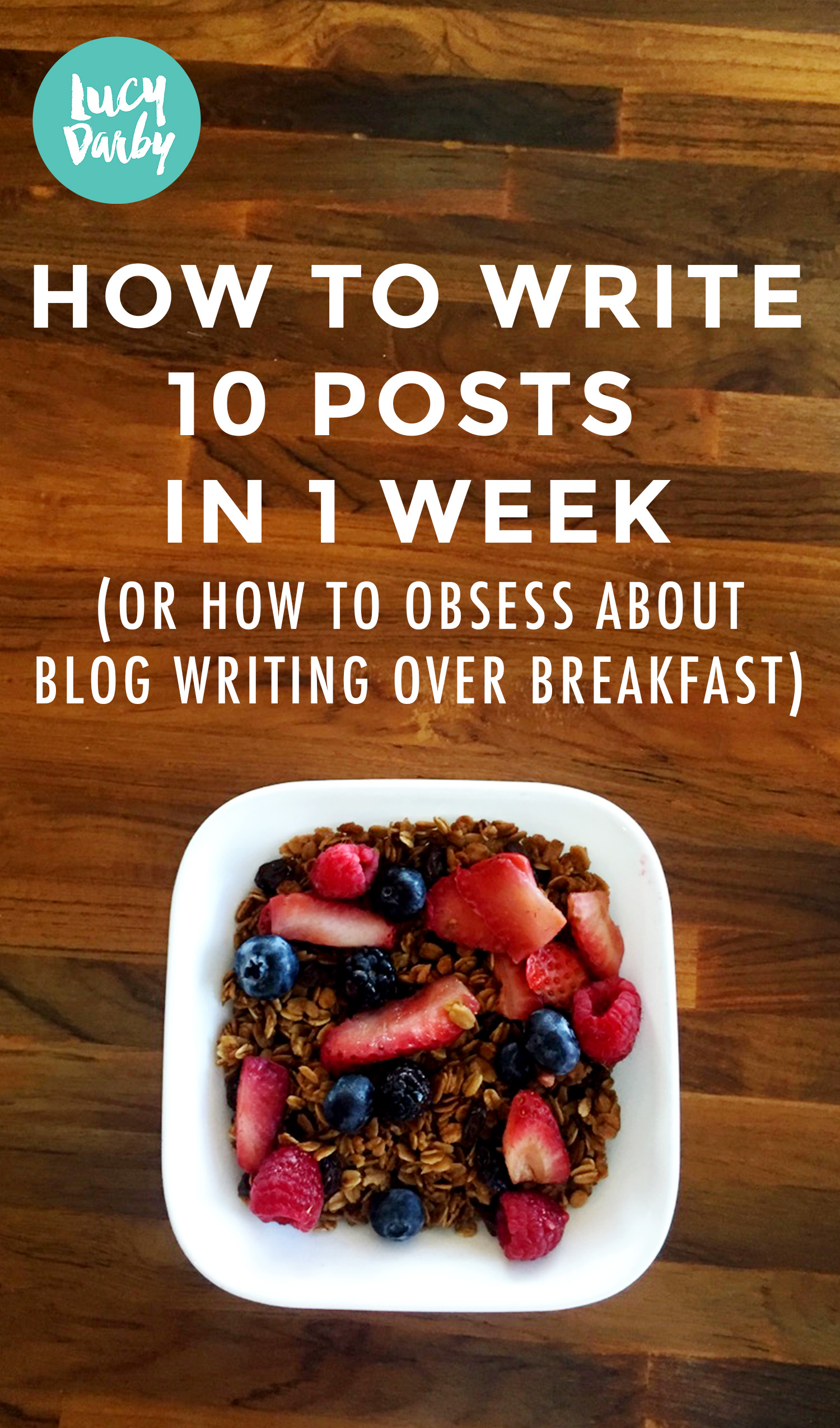 How To Write 10 Blog Posts in 1 Week