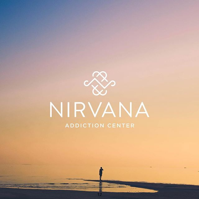 "Initial logo concept for Nirvana Addiction Center (rebrand of ""Reflections,"" a drug addiction treatment center in Orange County)."