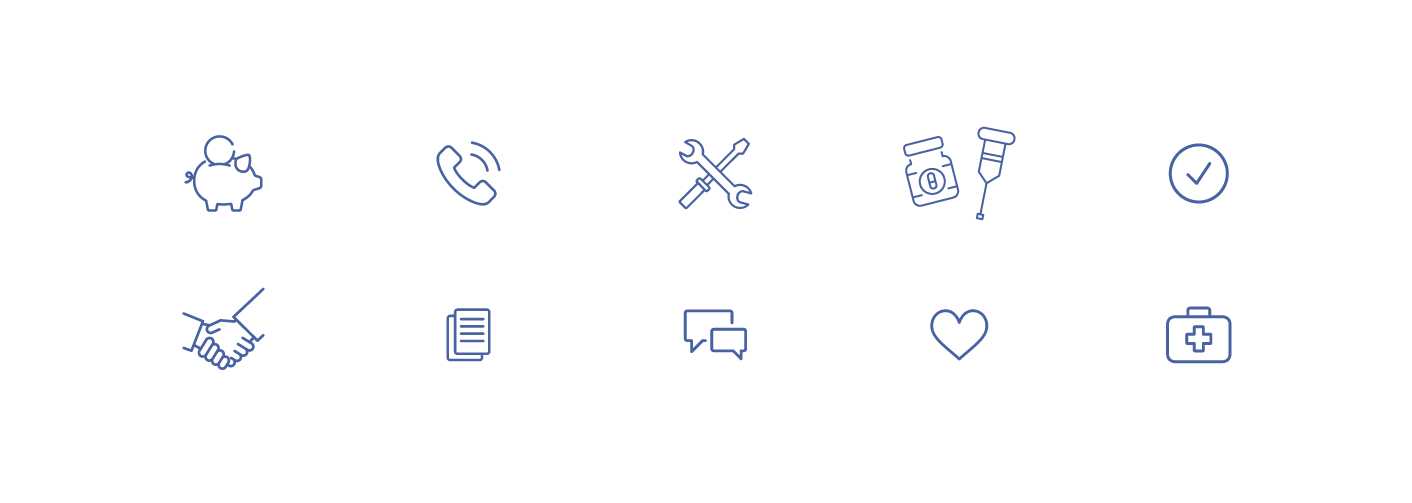 Custom iconography for website