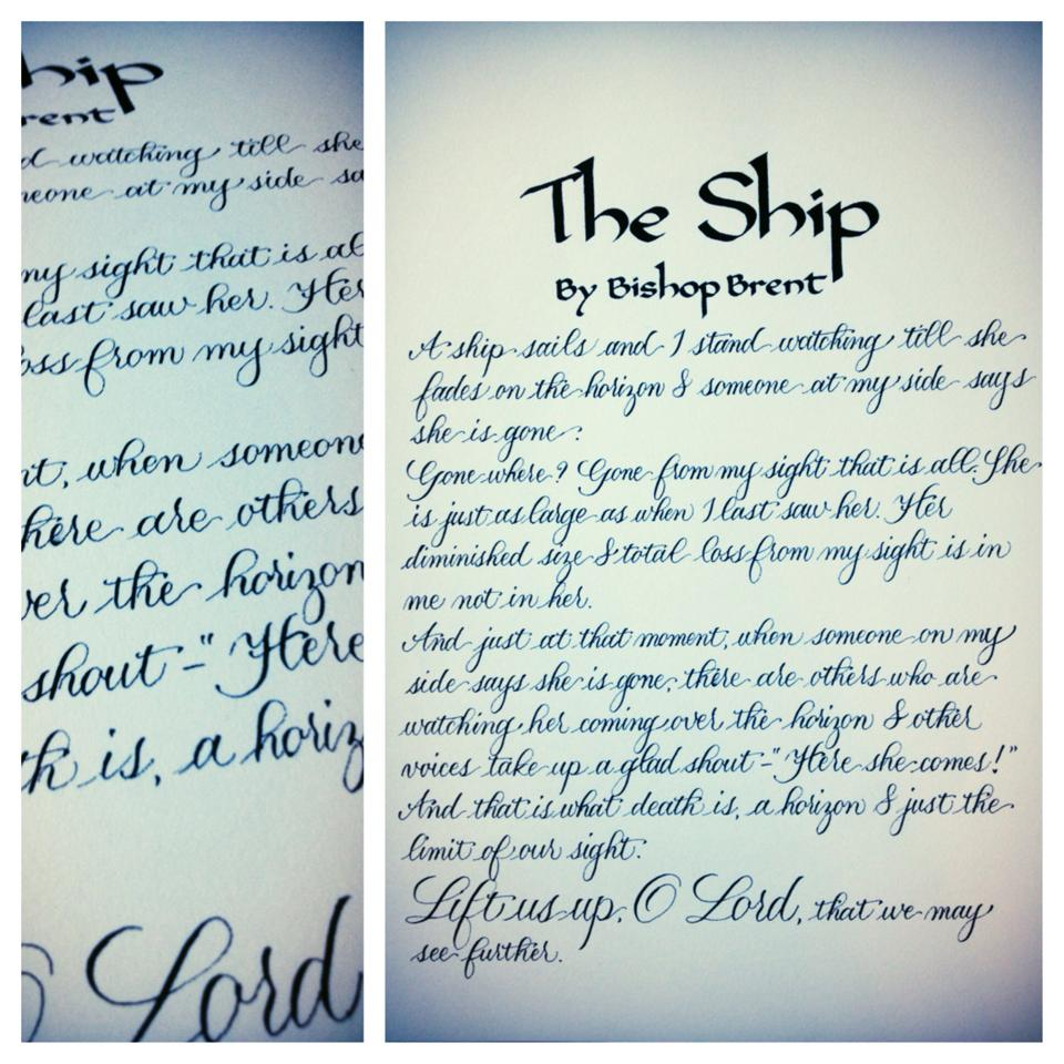 Hand Lettered Poem -  Price varies by length