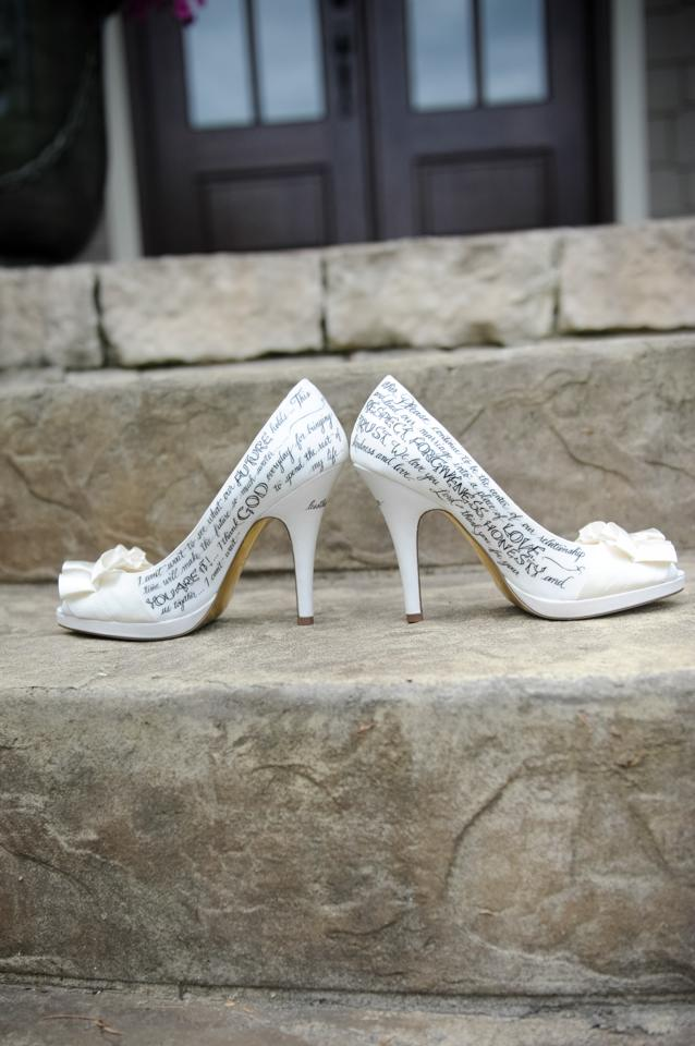 Hand Lettered Wedding Shoes -  Starts at $300