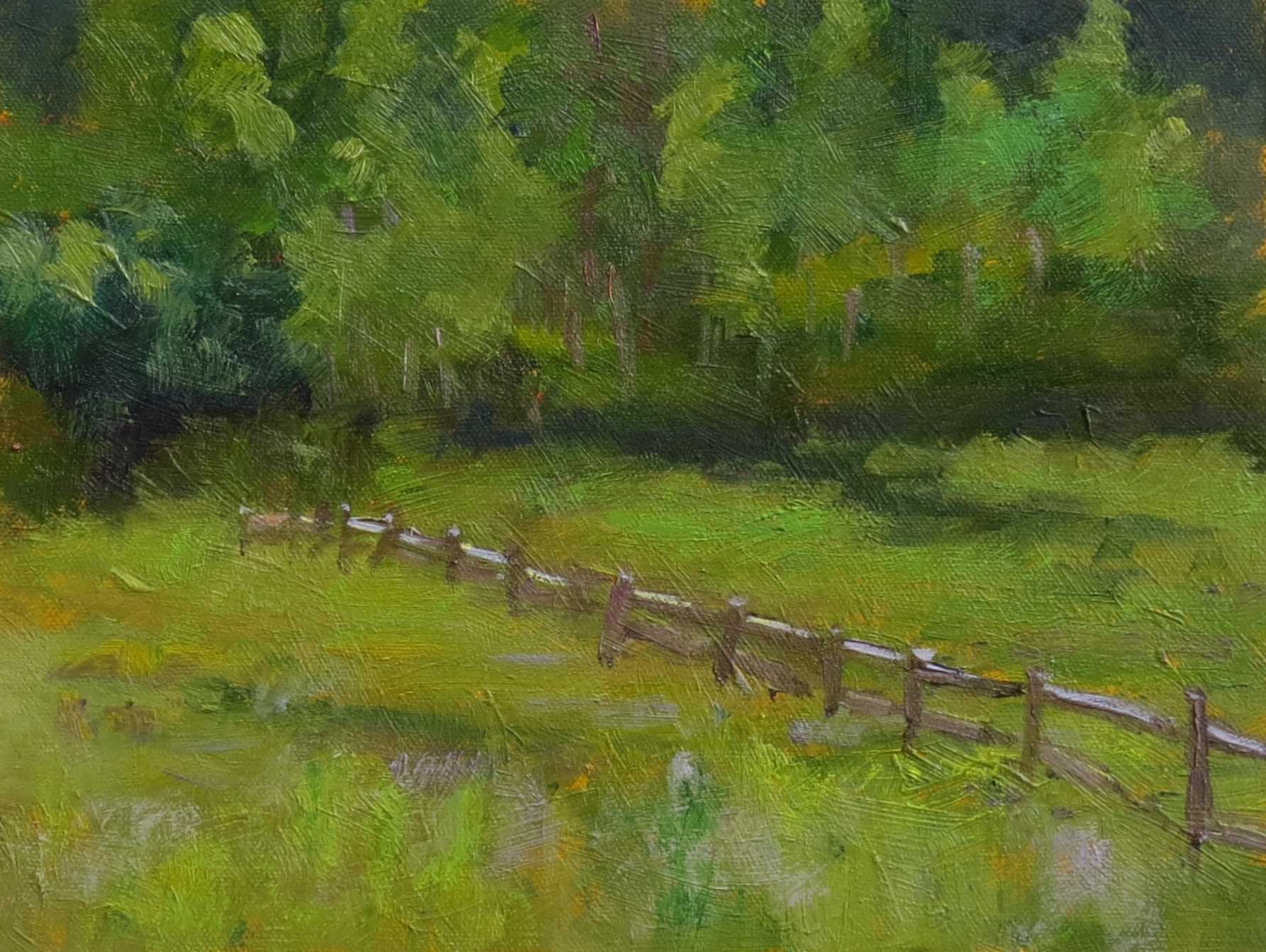 """Green Valley  8"""" x 10""""  Juried into 2015 Plein Air Artists of Colorado Show"""