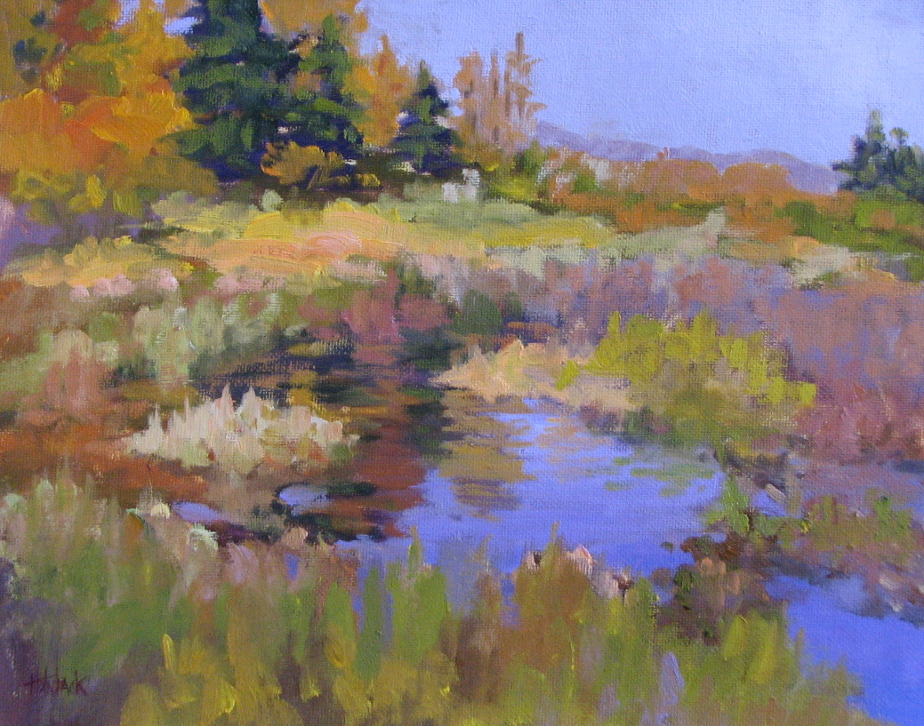 """Early Fall Morning 9"""" x 12""""  Honorable Mention Sunny Vista Living Center 2013 Show"""