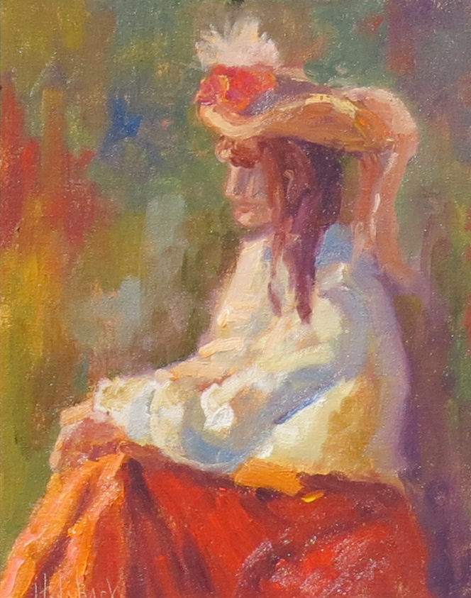 """Victorian Woman  10"""" x 8""""  SOLD"""