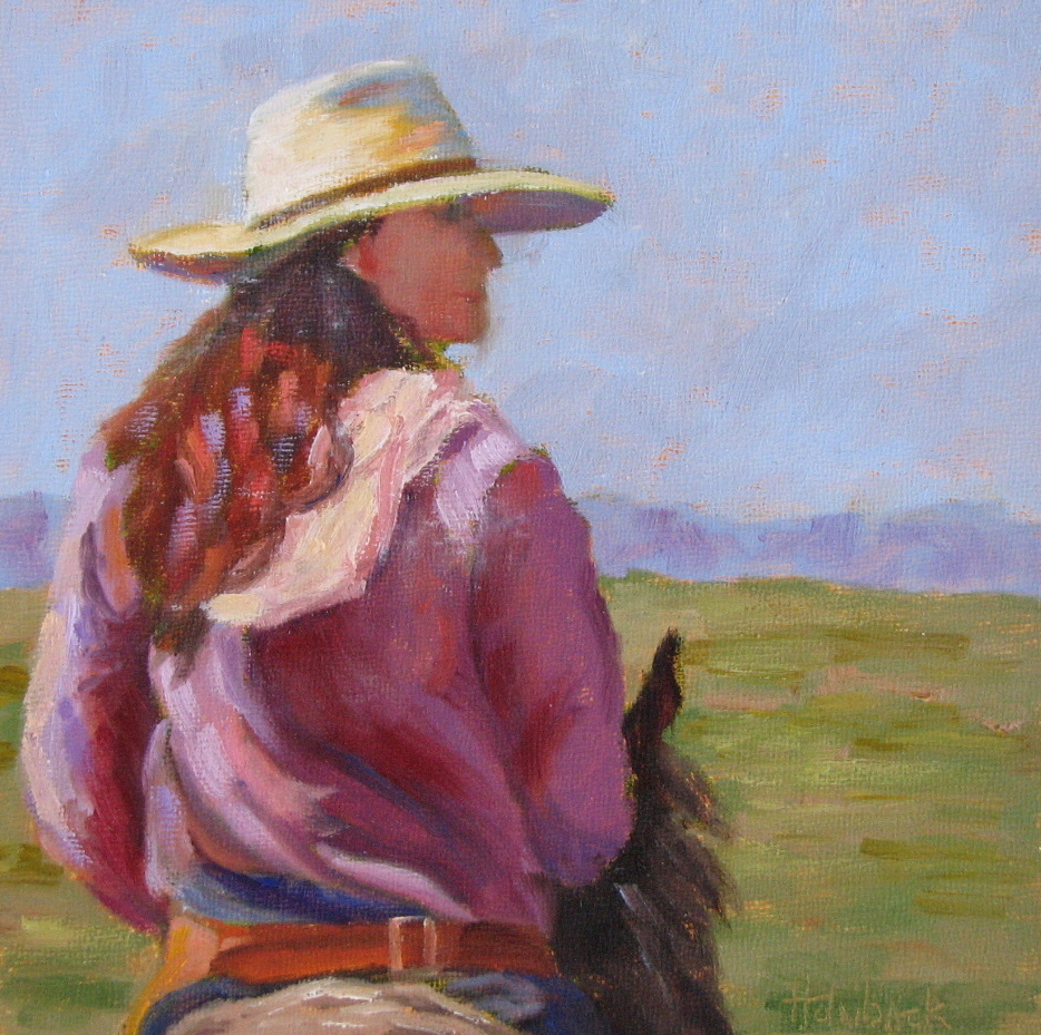 """How 'Bout Those Cowgirls?  8"""" x 8""""  SOLD"""