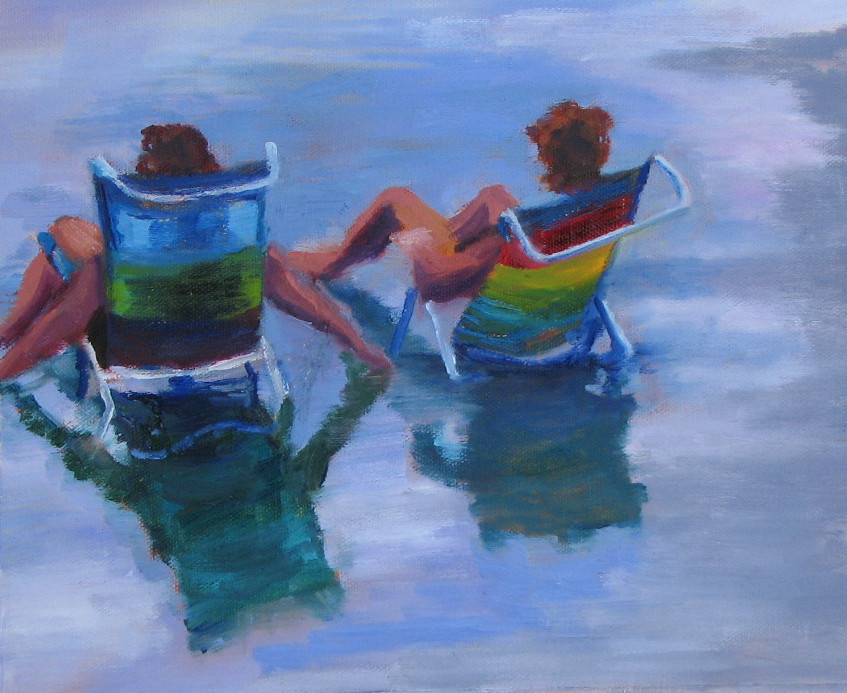 """Ocean City  8"""" x 10""""  Private Collection"""