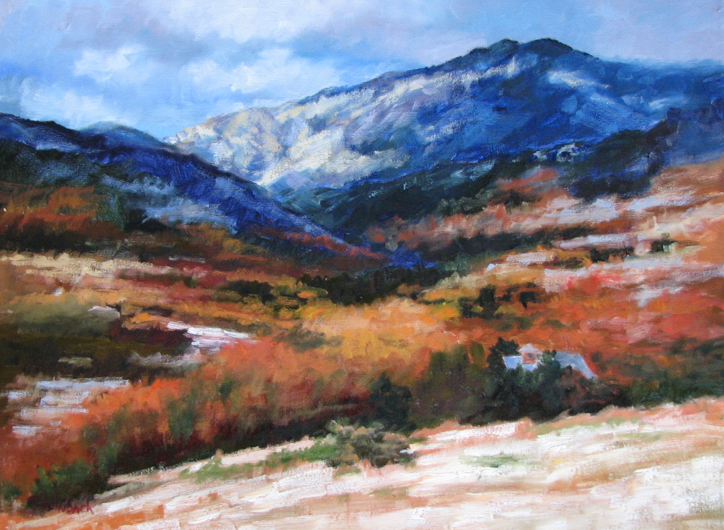 """Early Snow Fall  18"""" x 24""""  Sold"""
