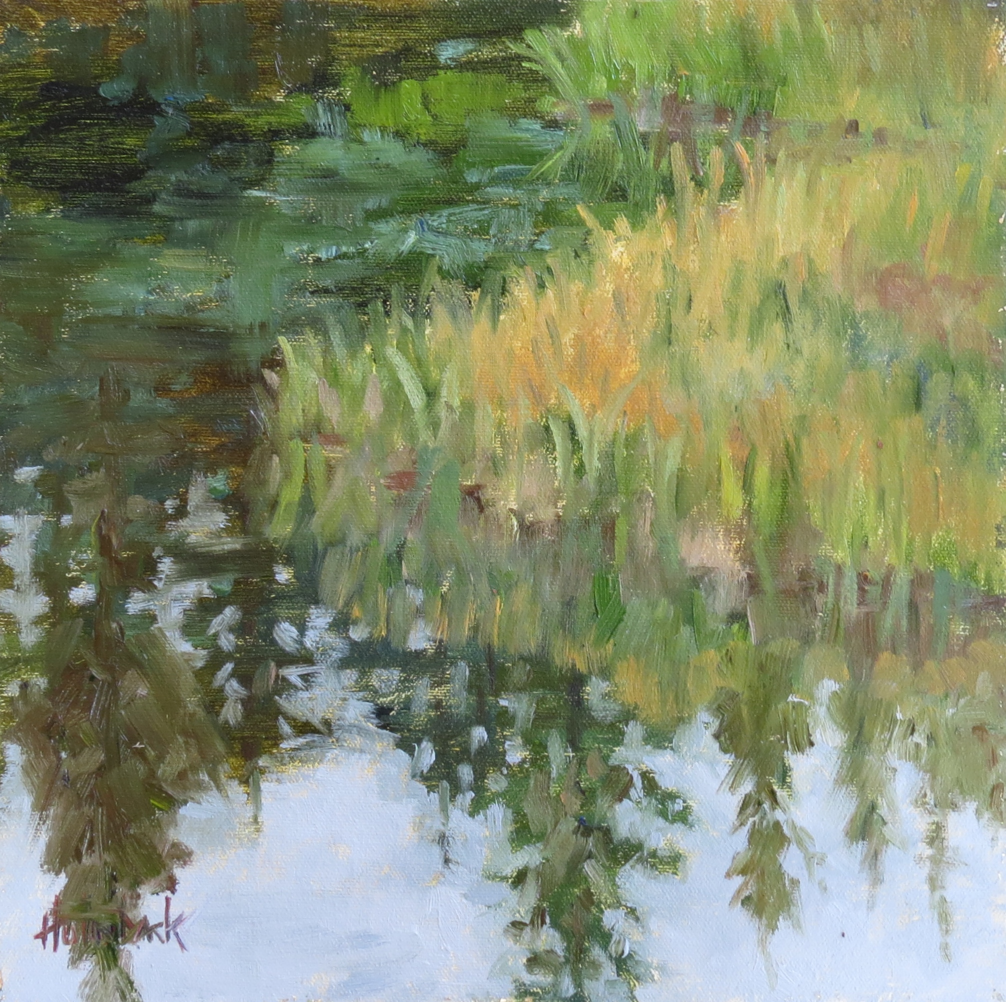 """Morning Reflections  12"""" x 12"""""""