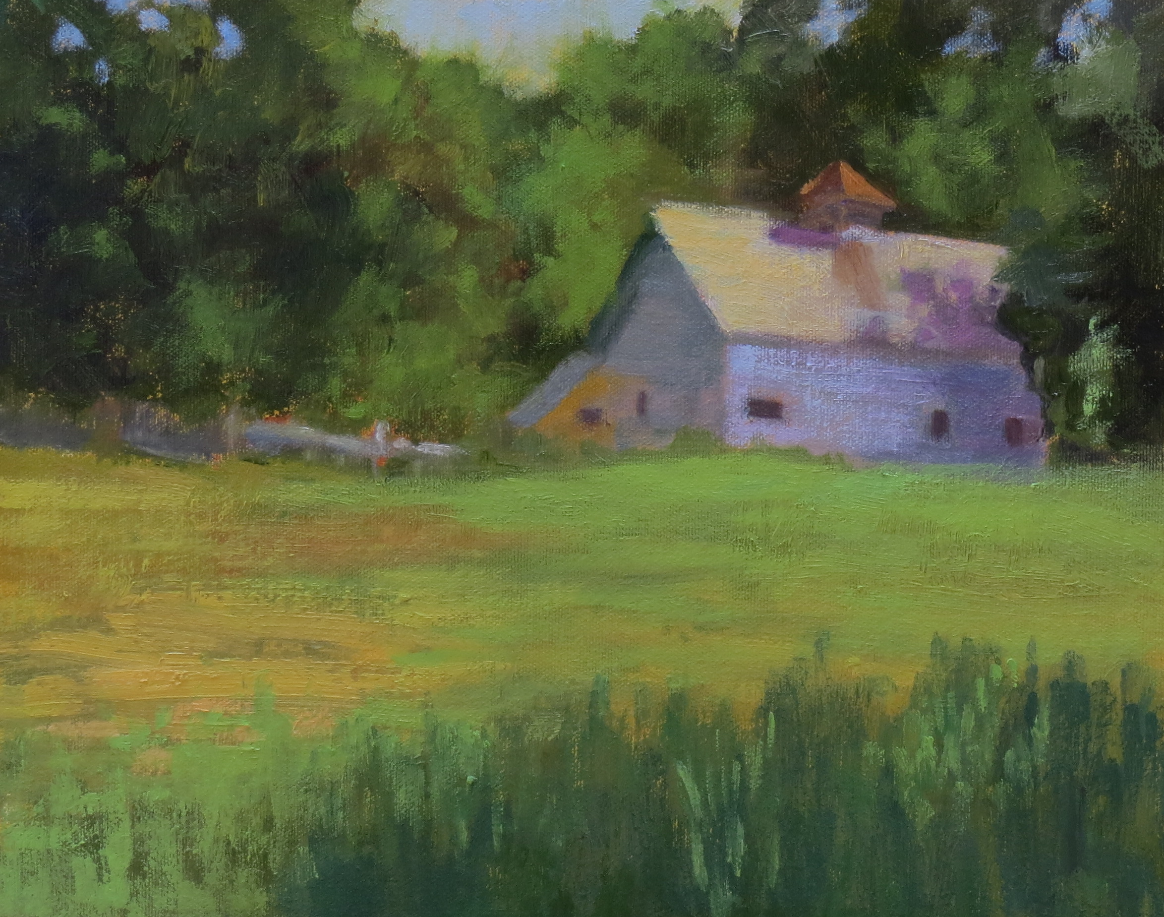 """Standing Vacant  9"""" x 12""""  Juried into Plein Air Artists of Colorado 2017 National Show"""