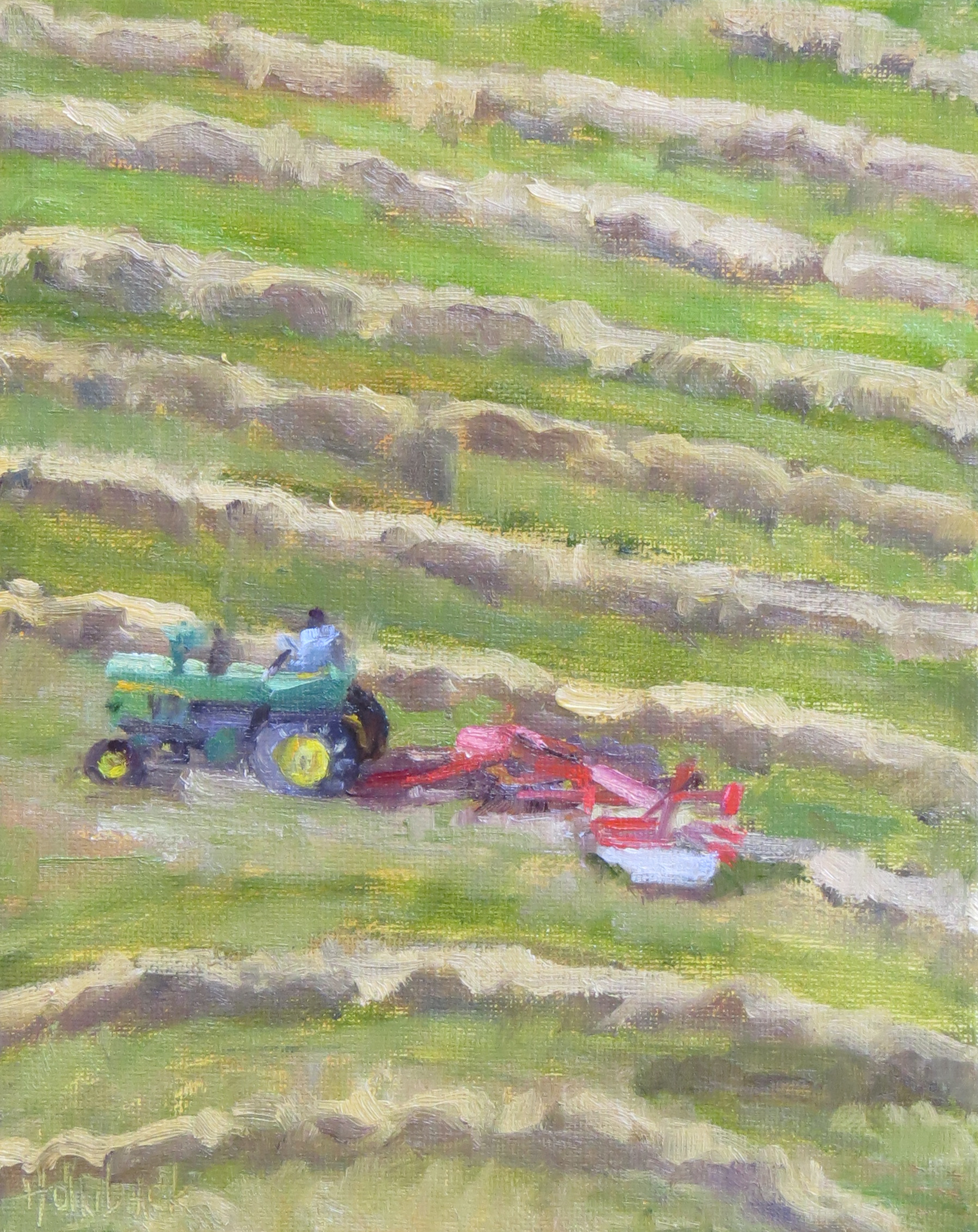 """Raking The Hay  10"""" x 8""""  Private Collection"""