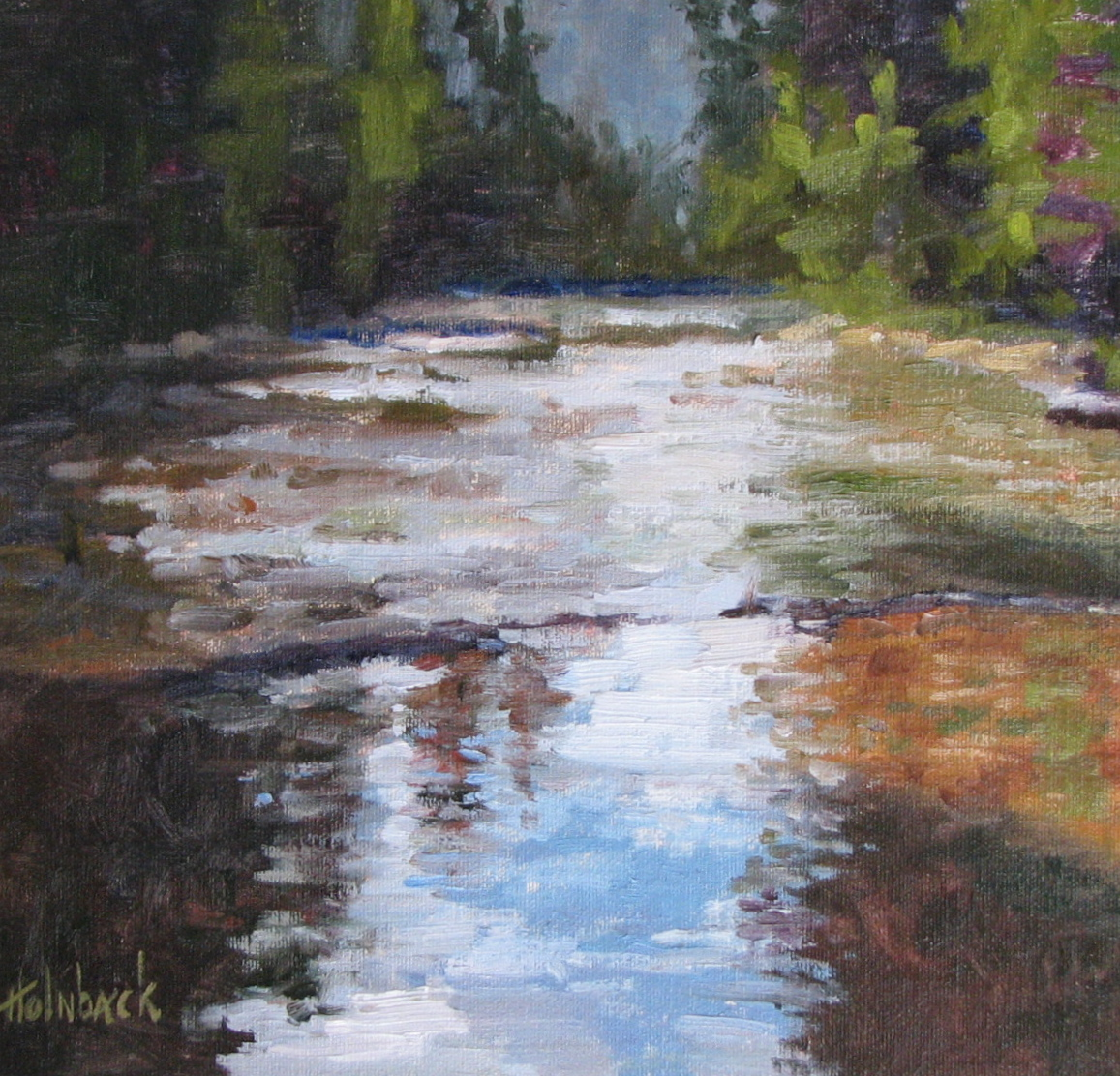 """Reflections  12"""" x 12""""  SOLD"""