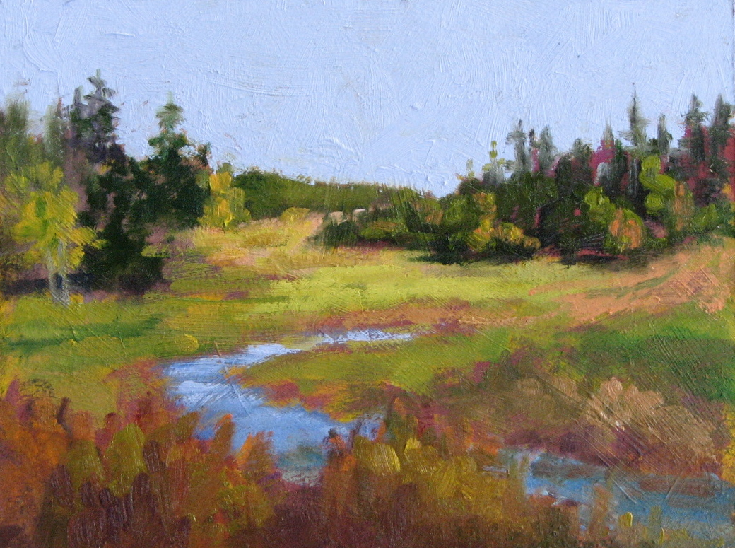 """Great September Day  6"""" x 8""""  SOLD"""