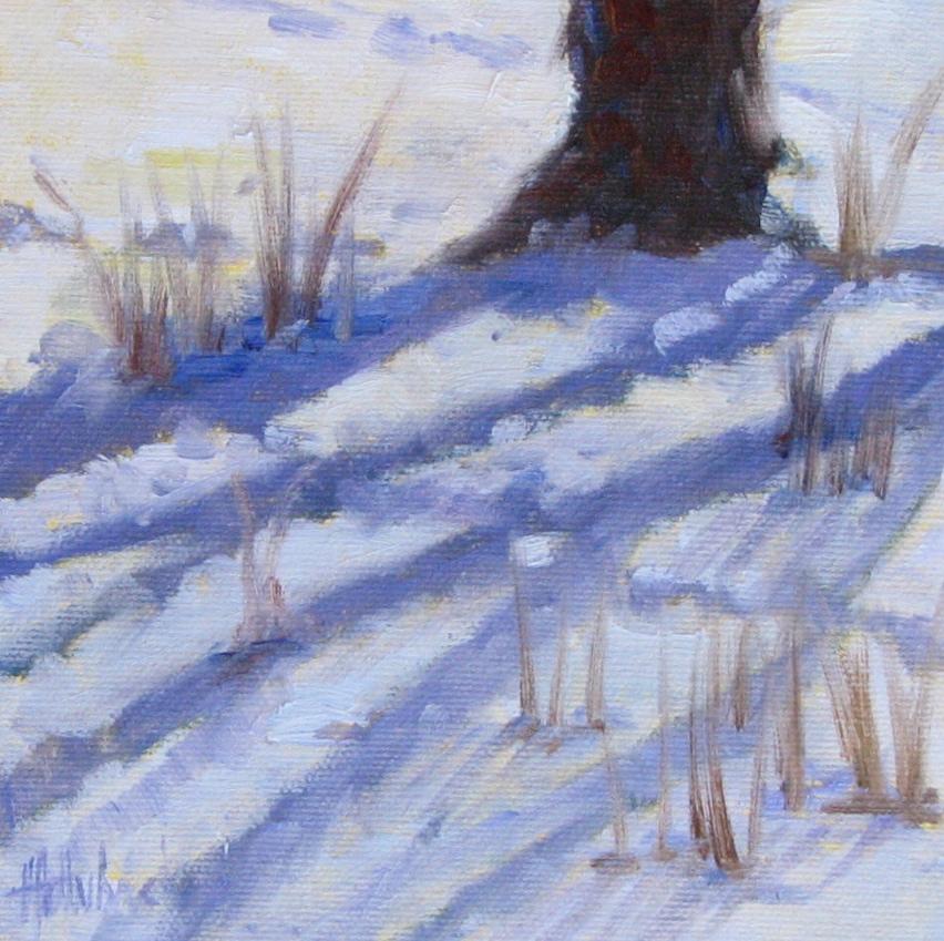 "Radiating Snow Shadows  6"" x 6"""