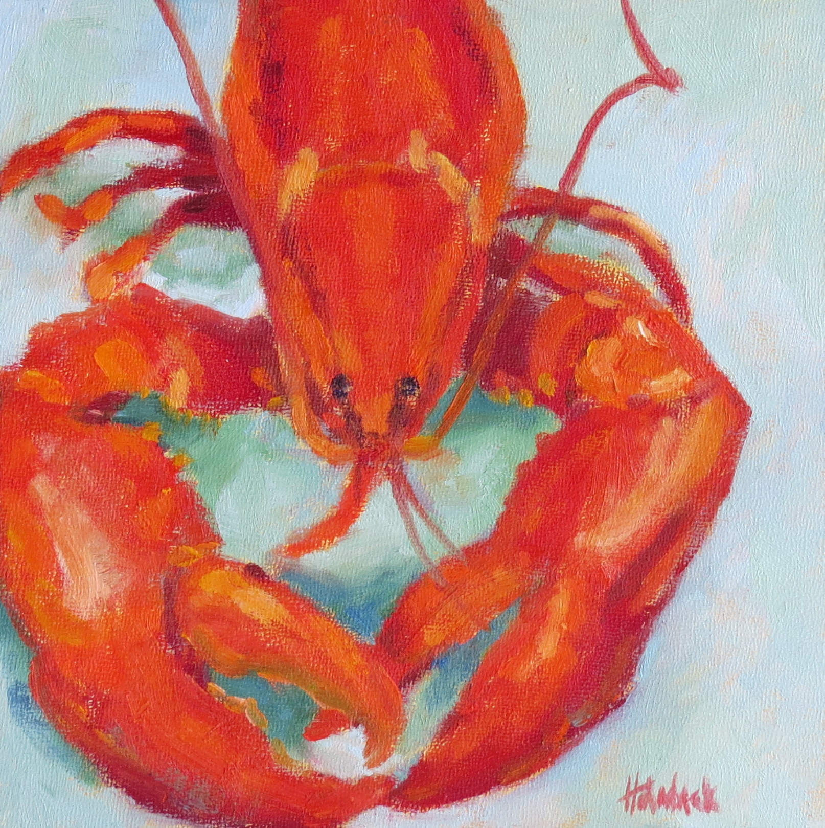 "The World Is My Lobster  8"" x 8"""