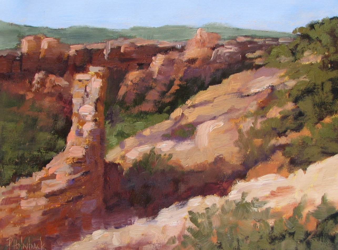 """Hovenweep  9"""" x 12""""  """"Top 100"""" Paint The Parks National Juried Show"""