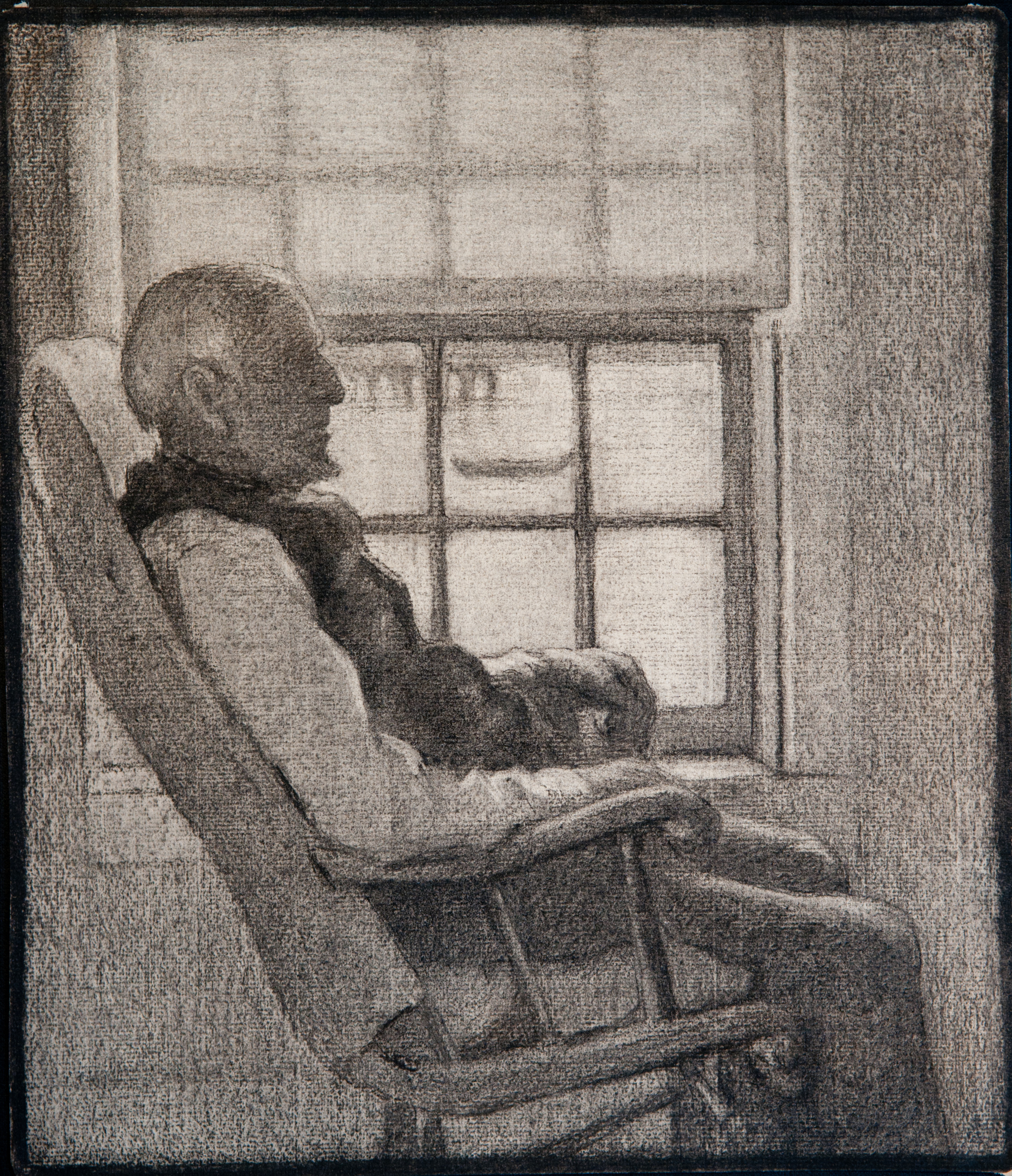 Old Man in Provincetown (Charcoal) by Edith Lake Wilkinson