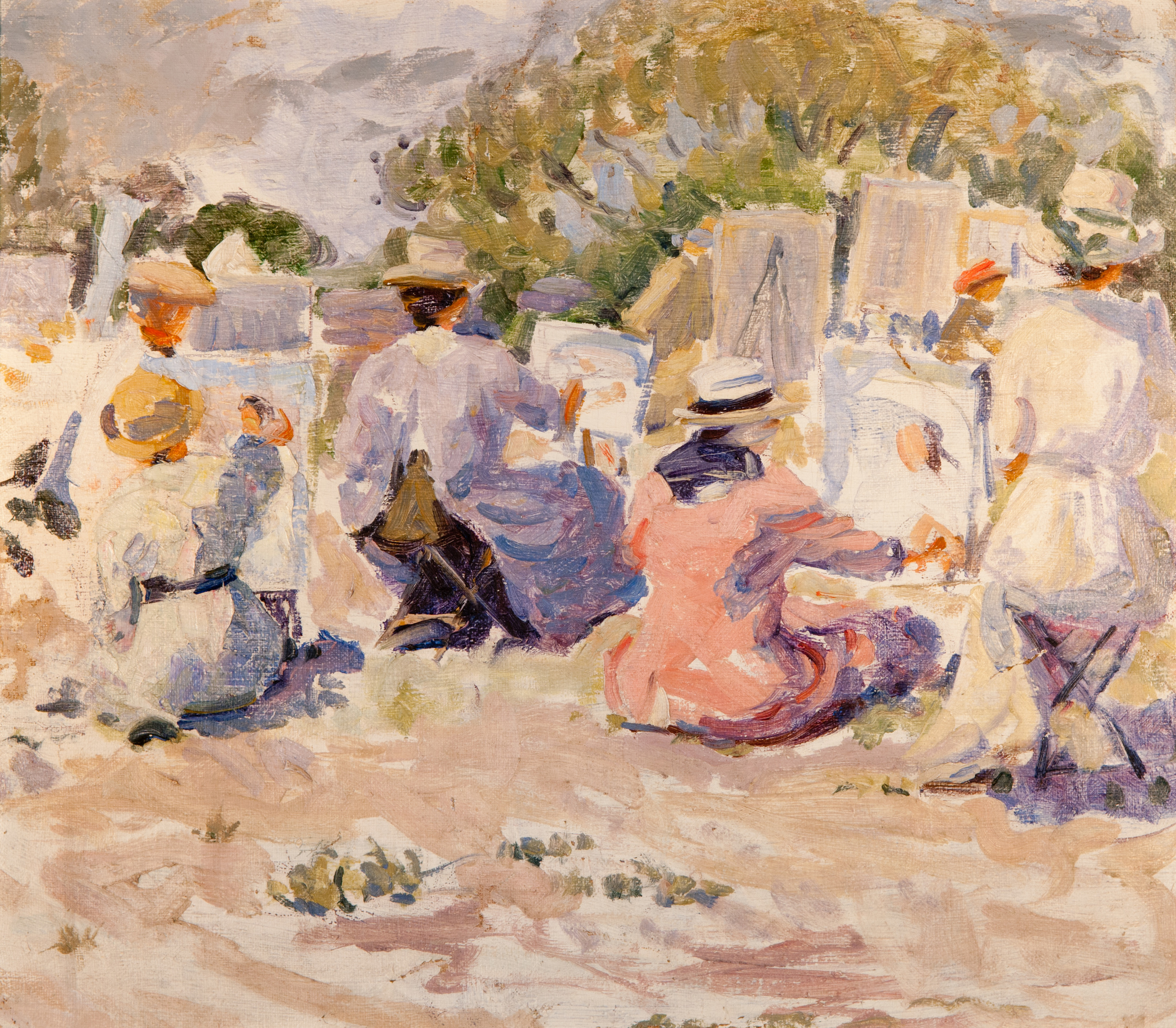 Painting Class (Oil Painting) by Edith Lake Wilkinson