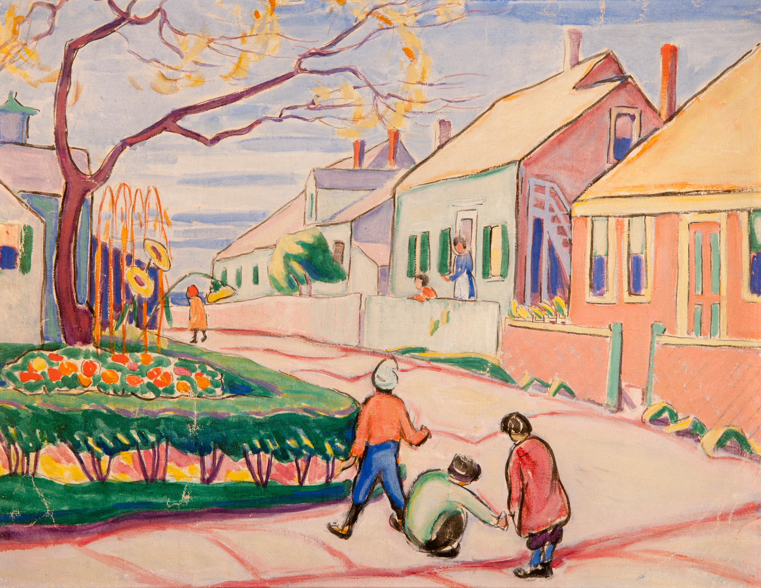 Provincetown Street (Oil Painting) by Edith Lake Wilkinson