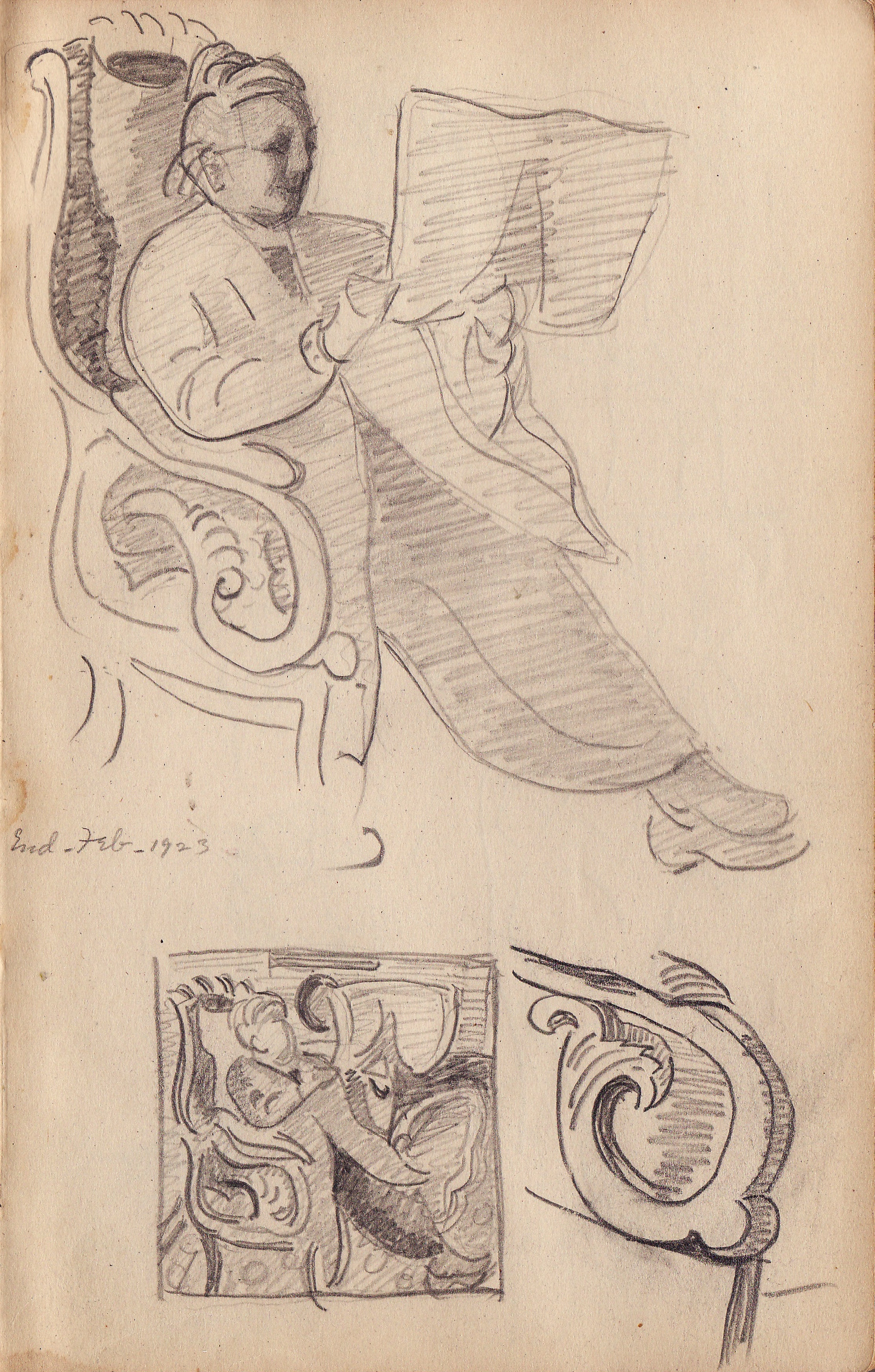 Study of Fanny (1923 Sketchbook) by Edith Lake Wilkinson