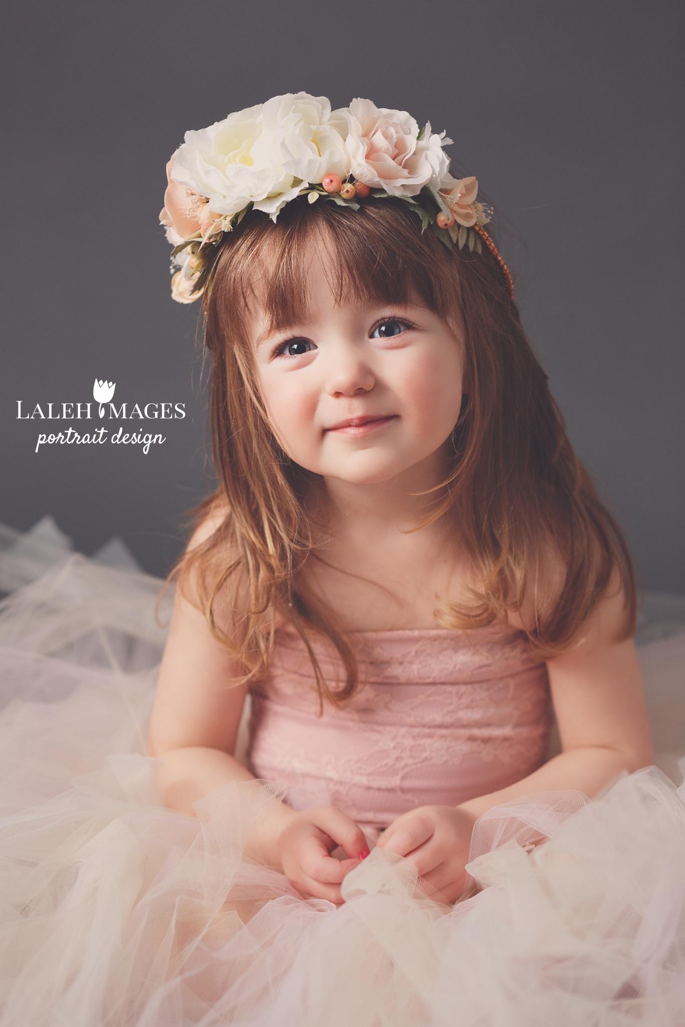 Little girl tut flower crown