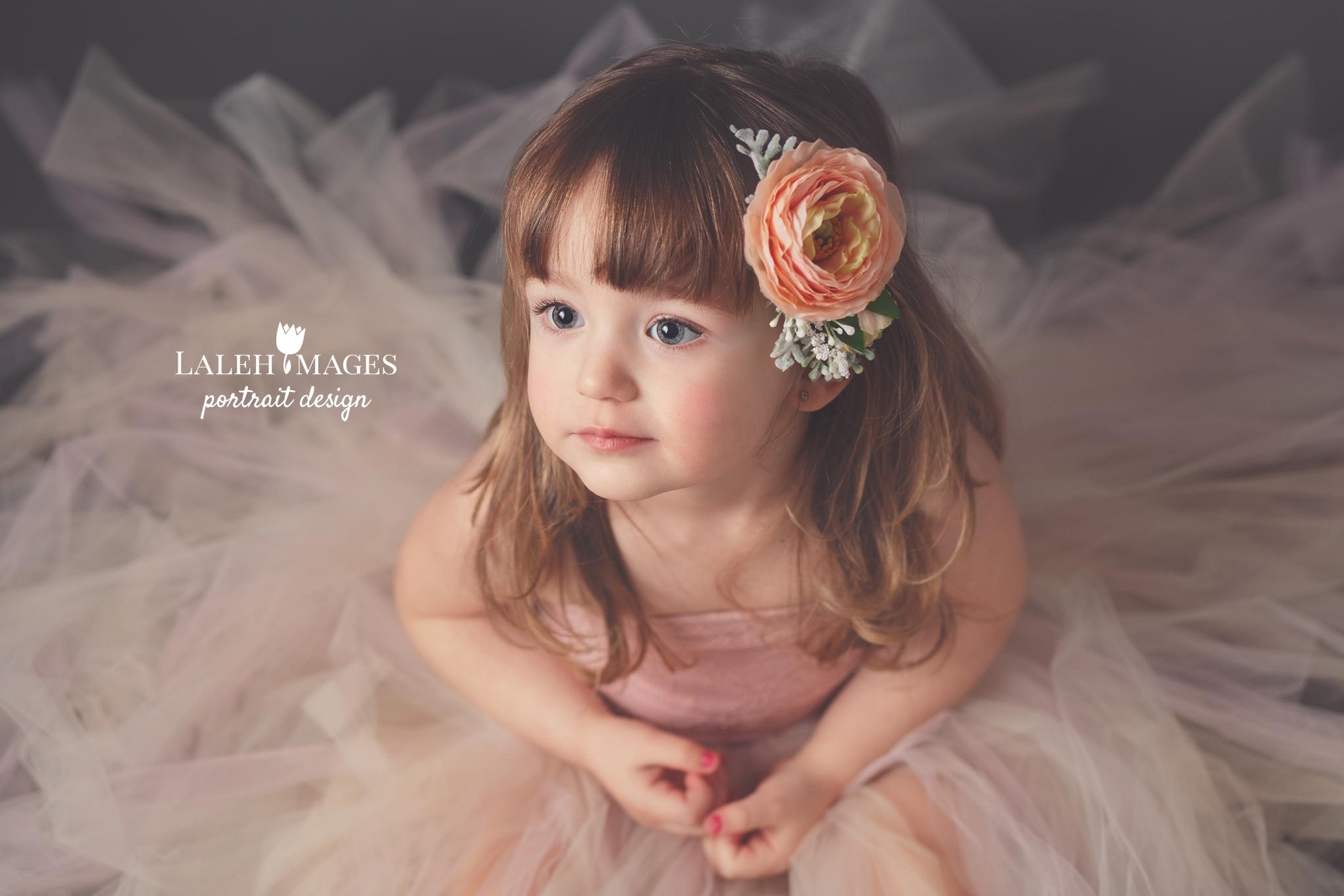 Pretty girl flower crown tutu