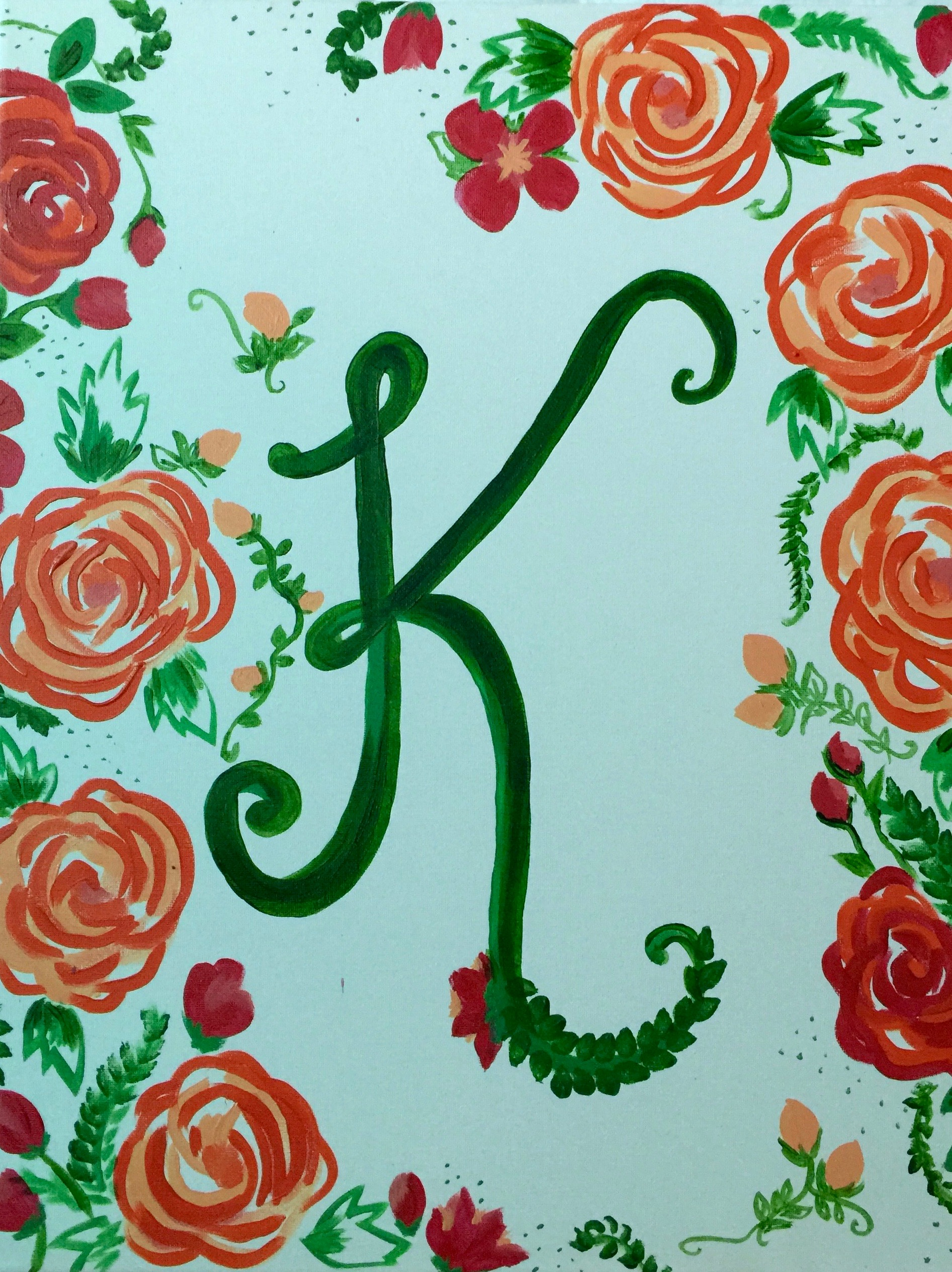 Copy of Flower Monogram