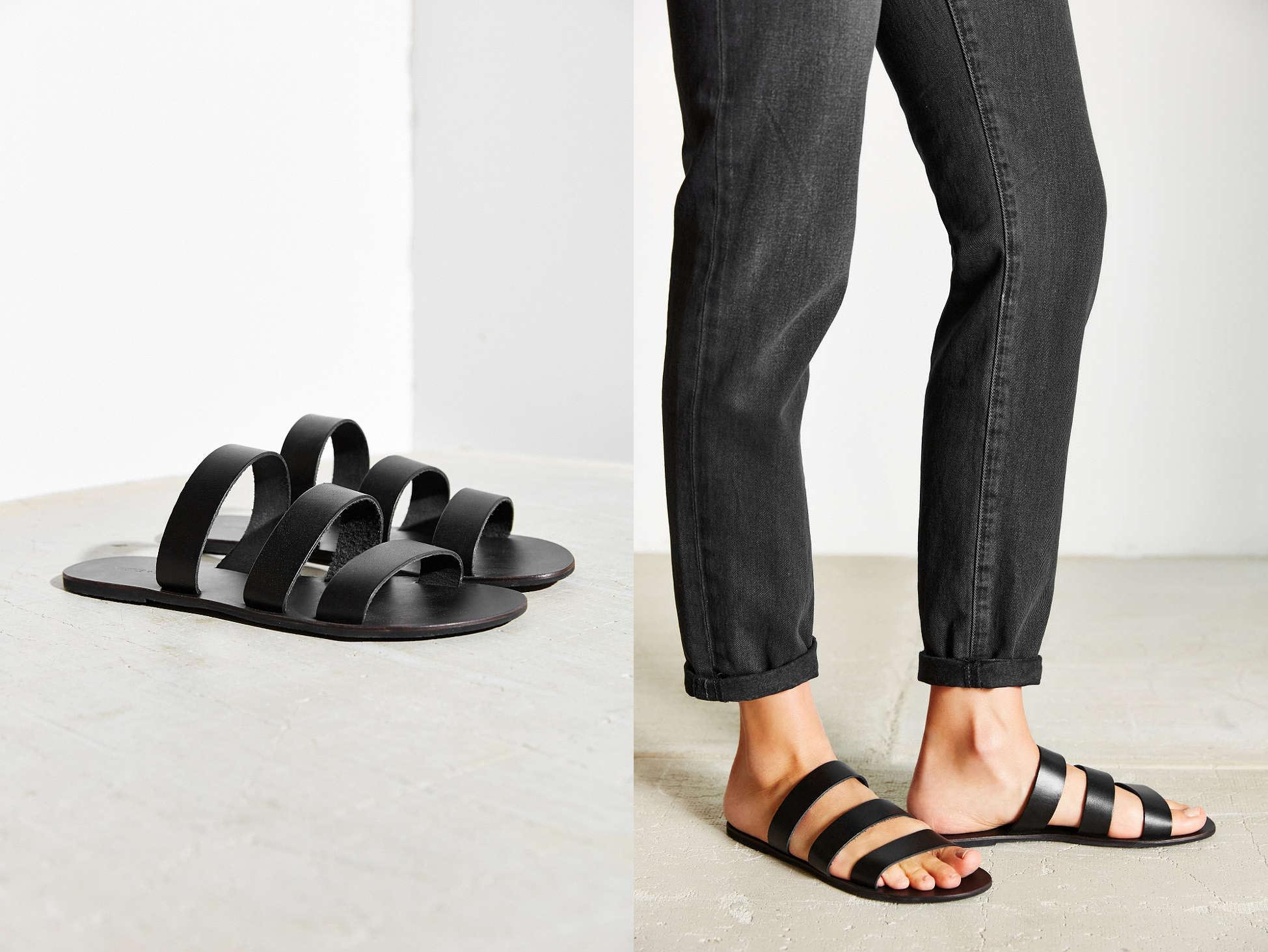 Silence + Noise Lucia Strap Sandal, was $34 now $2