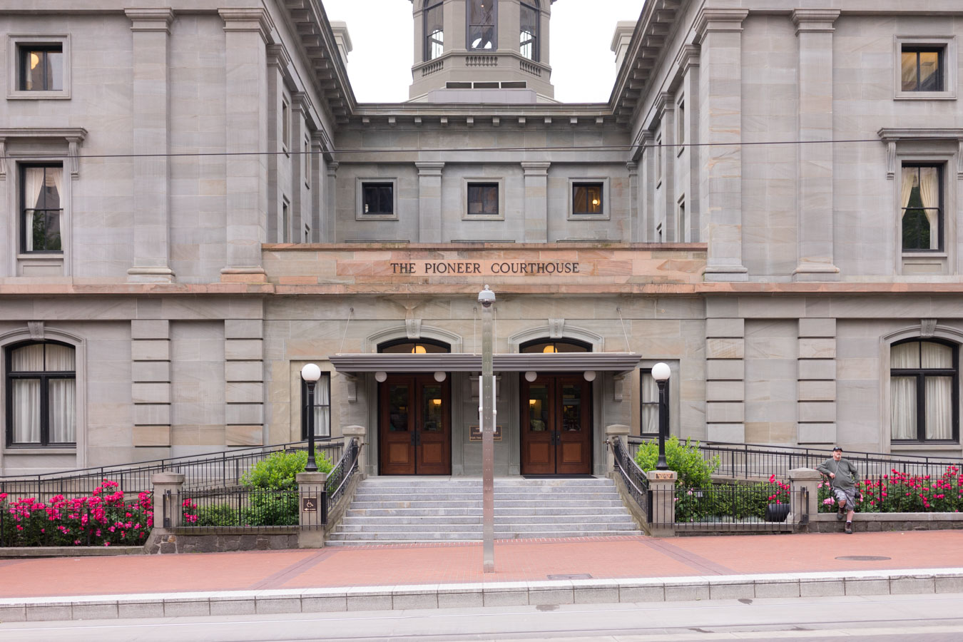 The Pioneer Courthouse and the adjunctive square are the common place for locals.