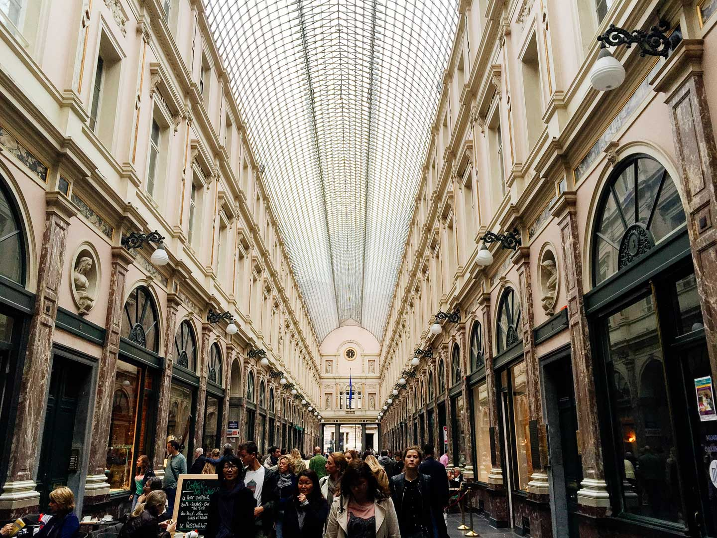 Les Galeries Royales Saint-Hubert : a historic landmark and a gorgeous shopping hall for chocolate and luxury goods