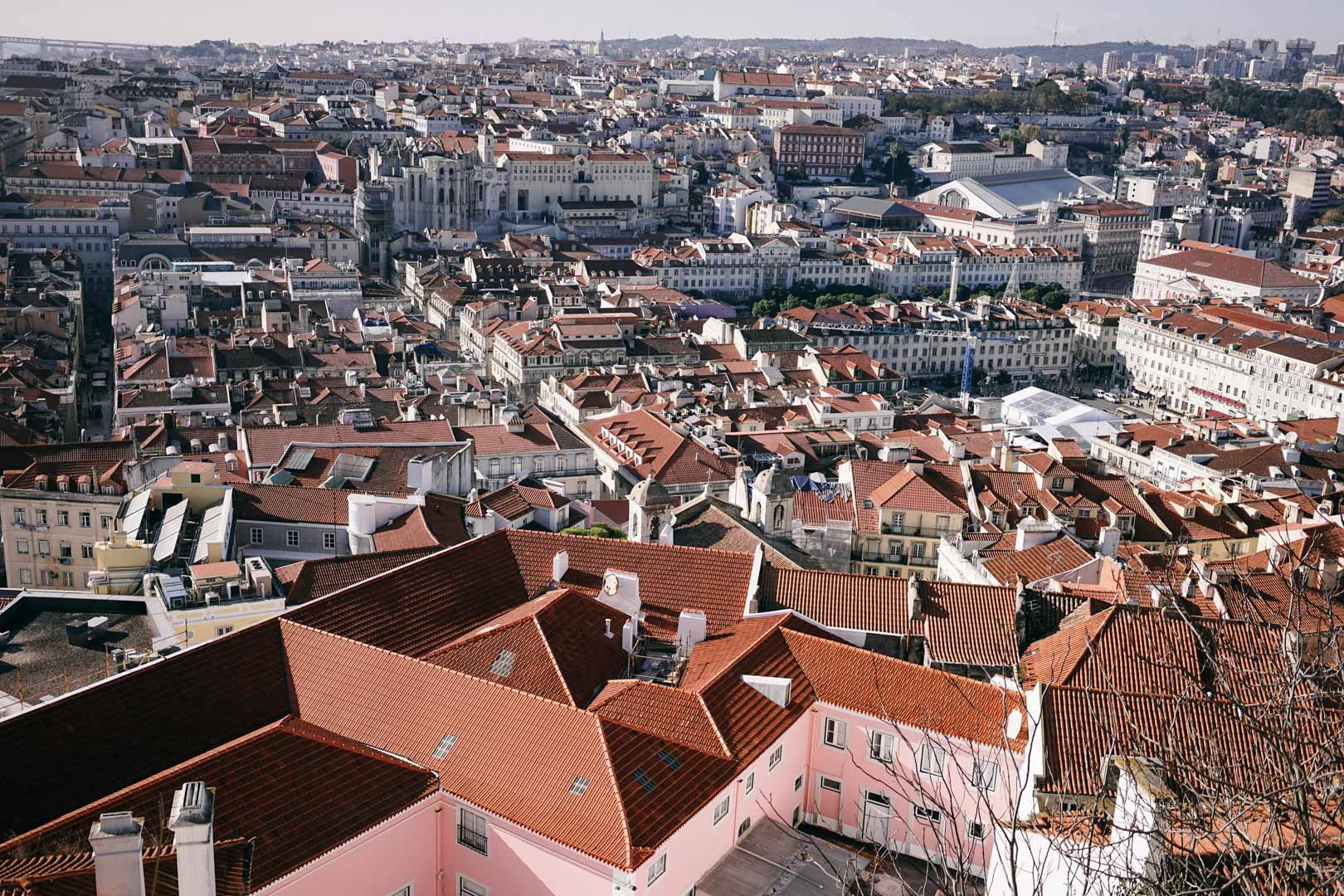 Superlative views over the city's red rooftops