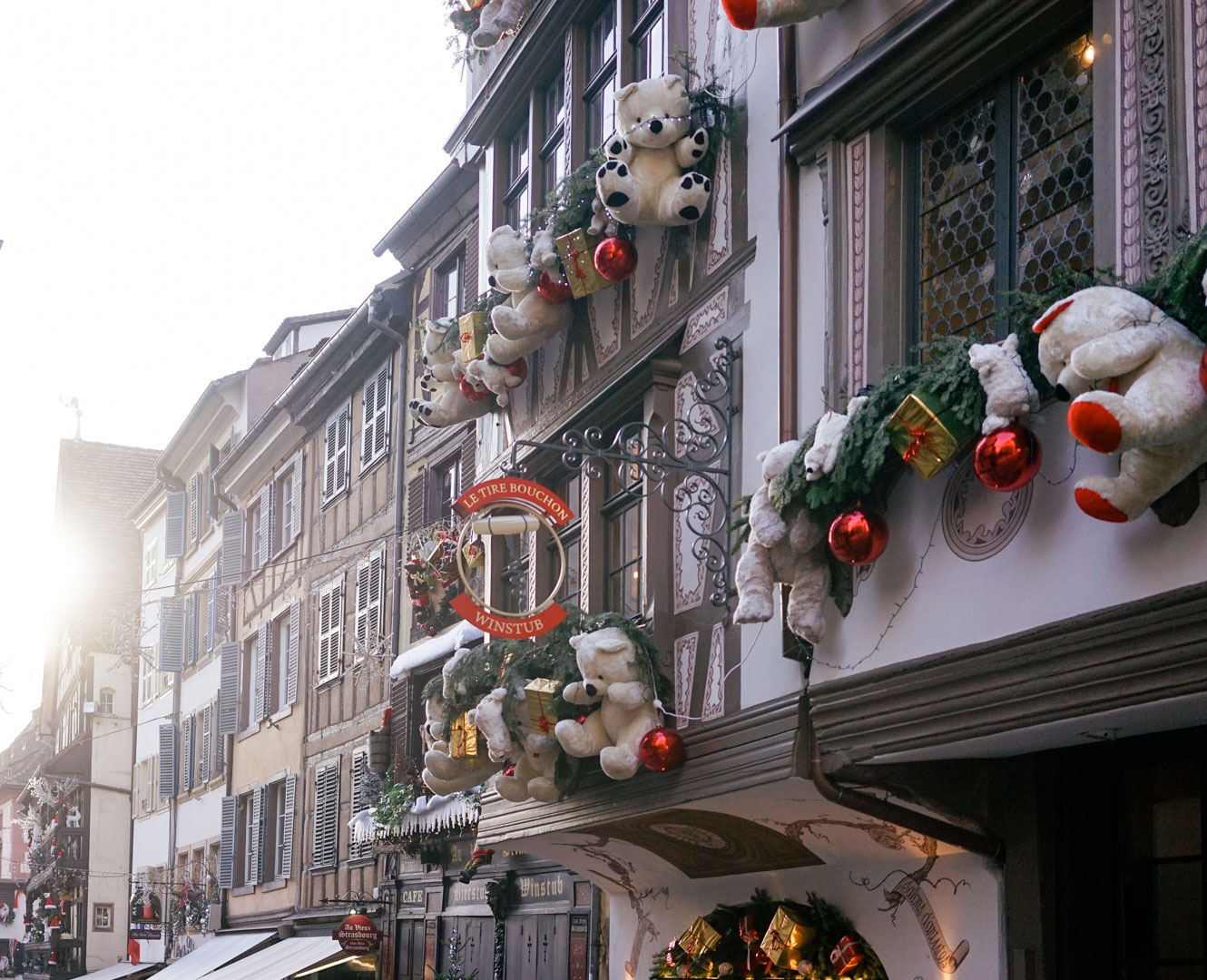 During Christmas, the extravagant decorations, warm and sweet